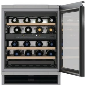 Miele KWT6321UG 60cm Integrated Built Under Dual Zone Wine Cooler – BLACK - BLACK