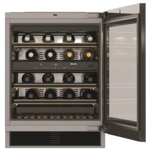 CDA FWV601BL 60cm Integrated In Column Wine Cooler – BLACK
