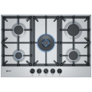 Neff T27DS59N0 75cm 5 Burner Gas Hob - STAINLESS STEEL