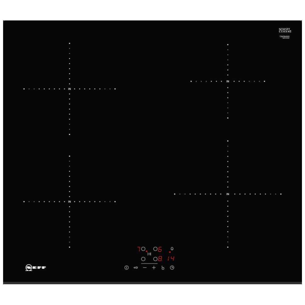 neff t36fb40x0 60cm bevelled induction hob black. Black Bedroom Furniture Sets. Home Design Ideas