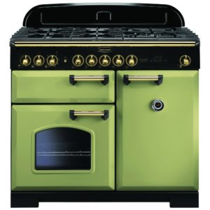 Rangemaster CDL100DFFOG/B Classic Deluxe 100cm Dual Fuel Range Cooker 114770 – OLIVE GREEN