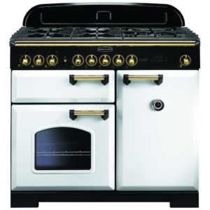Rangemaster CDL100DFFWH/B Classic Deluxe 100cm Dual Fuel Range Cooker 113860 – WHITE