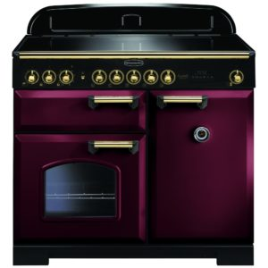 Rangemaster CDL100EICY/B Classic Deluxe 100cm Induction Range Cooker 115590 – CRANBERRY