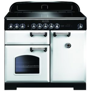 Rangemaster CDL100EIWH/C Classic Deluxe 100cm Induction Range Cooker 114030 – WHITE