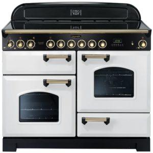 Rangemaster CDL110ECWH/B Classic Deluxe 110cm Ceramic Range Cooker 114160 – WHITE