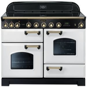 Rangemaster CDL110EIWH/B Classic Deluxe 110cm Induction Range Cooker 113120 – WHITE