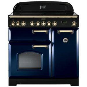 Rangemaster CDL90ECRB/B Classic Deluxe 90cm Ceramic Range Cooker 114260 - BLUE