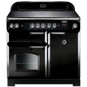 Rangemaster CLA100ECBL/C Classic 100cm Ceramic Range Cooker 117600 - BLACK