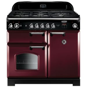Rangemaster CLA100NGFCY/C Classic 100cm Gas Range Cooker 117650 – CRANBERRY