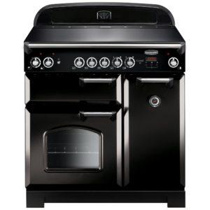 Rangemaster CLA90ECBL/C Classic 90cm Ceramic Range Cooker 117420 - BLACK