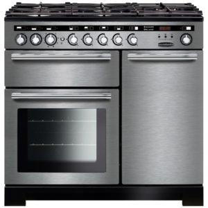 Rangemaster EDL100DFFSS/C Encore 100cm Deluxe Dual Fuel Range Cooker 117250 – STAINLESS STEEL