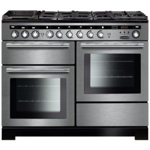 Rangemaster EDL110DFFSS/C Encore 110cm Deluxe Dual Fuel Range Cooker 117290 – STAINLESS STEEL