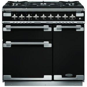 Rangemaster ELS90DFFGB Elise 90cm Dual Fuel Range Cooker 108410 - BLACK