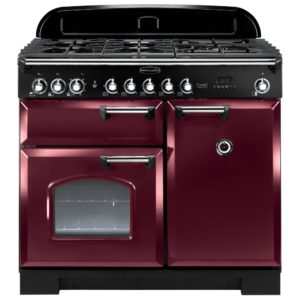 Rangemaster CDL100DFFCY/C Classic Deluxe 100cm Dual Fuel Range Cooker 92510 – CRANBERRY