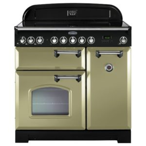 Rangemaster CDL90ECOG/C Classic Deluxe 90cm Ceramic Range Cooker 100890 – OLIVE GREEN