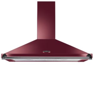 Rangemaster CLAHDC90CY/C 90cm Classic Chimney Hood With Chrome Rail – CRANBERRY