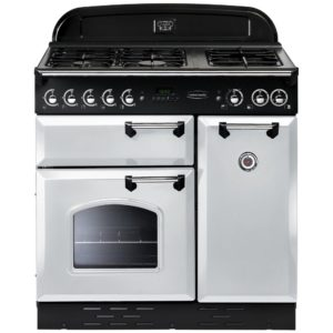 Rangemaster CLAS90NGFWH/C Classic 90cm Gas Range Cooker 80490 - WHITE