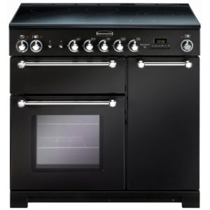Rangemaster KCH90ECBL/C Kitchener 90cm Ceramic Range Cooker 79270 – BLACK