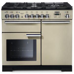 Rangemaster PDL100DFFCR/C Professional Deluxe 100cm Dual Fuel Range Cooker 97570 - CREAM