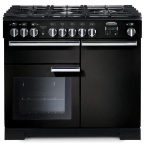 Rangemaster PDL100DFFGB/C Professional Deluxe 100cm Dual Fuel Range Cooker 97560 – BLACK