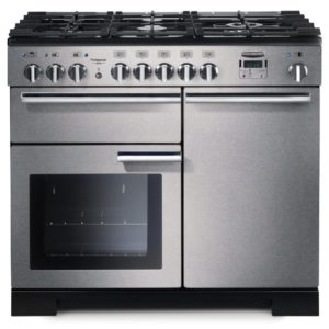 Rangemaster PDL100DFFSS/C Professional Deluxe 100cm Dual Fuel Range Cooker 97550 – STAINLESS STEEL