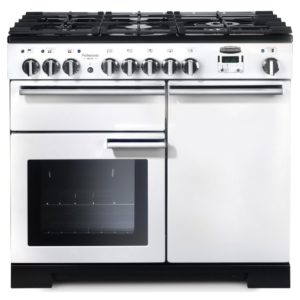 Rangemaster PDL100DFFWH/C Professional Deluxe 100cm Dual Fuel Range Cooker 98950 – WHITE