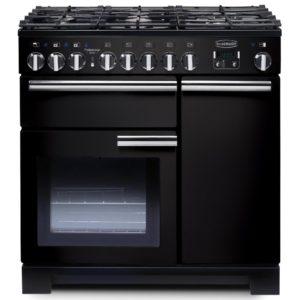 Rangemaster PDL90DFFGB/C Professional Deluxe 90cm Dual Fuel Range Cooker 97600 – BLACK