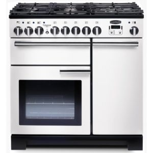 Rangemaster PDL90DFFWH/C Professional Deluxe 90cm Dual Fuel Range Cooker 98960 – WHITE