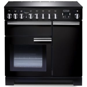Rangemaster PDL90EIGB/C Professional Deluxe 90cm Induction Range Cooker 97870 – BLACK