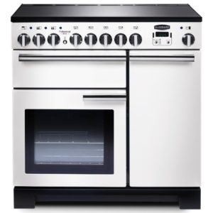 Rangemaster PDL90EIWH/C Professional Deluxe 90cm Induction Range Cooker 98740 – WHITE