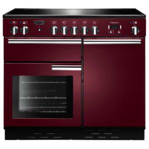 Rangemaster PROP100ECCY/C Professional Plus 100cm Ceramic Range Cooker 112380 – CRANBERRY