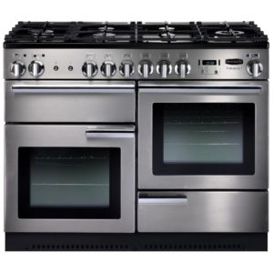 Stoves STERLING DX S1000DFGTGBK 4943 Sterling Deluxe 100cm Gas On Glass Dual Fuel Range Cooker – BLACK