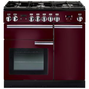 Rangemaster PROP90NGFCY/C Professional Plus 90cm Gas Range Cooker 91940 – CRANBERRY