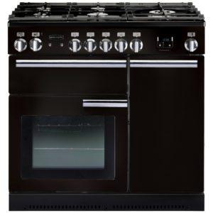 Rangemaster PROP90NGFGB/C Professional Plus 90cm Gas Range Cooker 91930 - BLACK