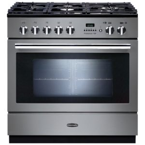 Rangemaster PROP90FXPDFFSS/C Professional Plus 90cm Pyrolytic Dual Fuel Range Cooker 92720 – STAINLESS STEEL