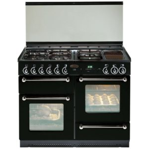 Rangemaster RMS110NGFBL/PDC 110cm Gas Range Cooker With Porthole Doors 73750 - BLACK