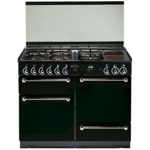 Rangemaster RMS110NGFBL/SDC 110cm Gas Range Cooker With Solid Doors 73810 - BLACK