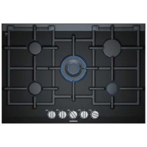 Siemens ER7A6RD70 IQ-700 75cm StepFlame Gas On Glass Hob – BLACK
