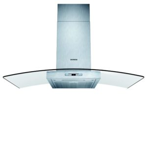 CDA ECN62BL 60cm Flat Glass Chimney Hood – BLACK