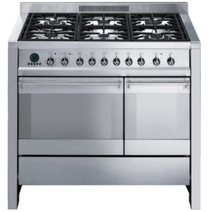 Smeg A2PY-8 100cm Opera Pyrolytic Dual Fuel Range Cooker - STAINLESS STEEL