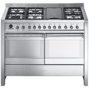 Smeg A4-8 A4 120cm Opera Dual Fuel Range Cooker – STAINLESS STEEL