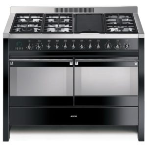 Smeg A4BL-8 A4 120cm Opera Dual Fuel Range Cooker – BLACK