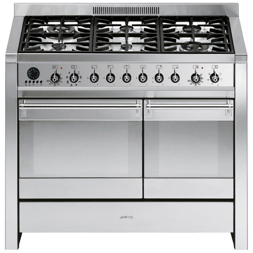 Smeg A2 8 100cm Opera Dual Fuel Range Cooker Stainless Steel Freestanding Electric Oven Stove Winning