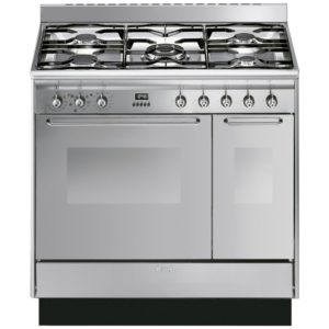 Smeg CC92MX9 90cm Cucina Dual Fuel Range Cooker – STAINLESS STEEL