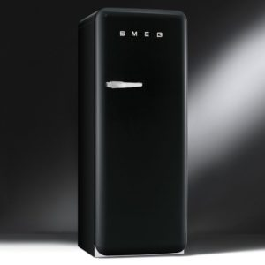 Smeg CVB20RNE1 Black Retro Freezer Right Hand Hinge - BLACK