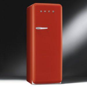 Smeg CVB20RR1 Red Retro Freezer Right Hand Hinge - RED