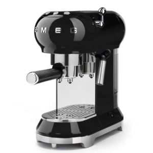 Smeg ECF01BLUK Freestanding Retro Espresso Coffee Machine - BLACK