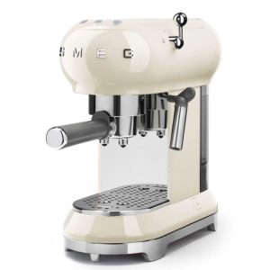 Smeg ECF01CRUK Freestanding Retro Espresso Coffee Machine - CREAM