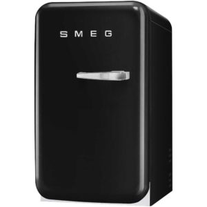Smeg FAB5LBL Black Retro Mini Bar Fridge Left Hand Hinge – BLACK