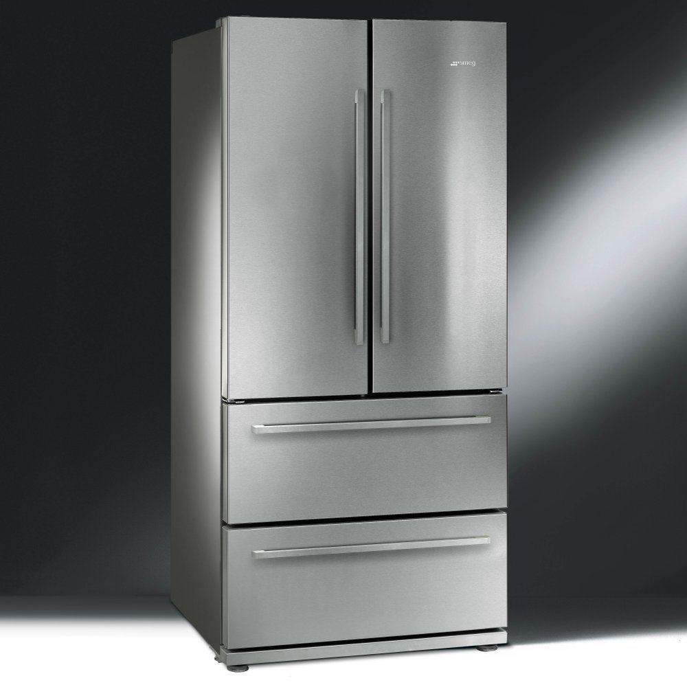 Smeg Fq55fx1 French Style Four Door Fridge Freezer Non Ice